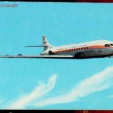 Postales: ANTIGUA POSTAL CON AVION CARAVELLE VI-R - 1967 PUBLICIDAD DE IBERIA LINEAS AEREAS - . Lote 1133743
