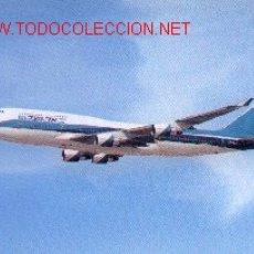 Postales: 7AVION-2. BOEING 747-400. LÍNEAS ISRAELIES. Lote 737145