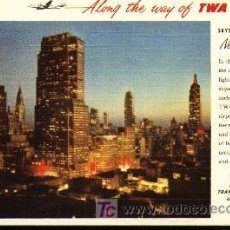 Postales: POSTAL - TWA - NEW YORK CITY. Lote 27615375
