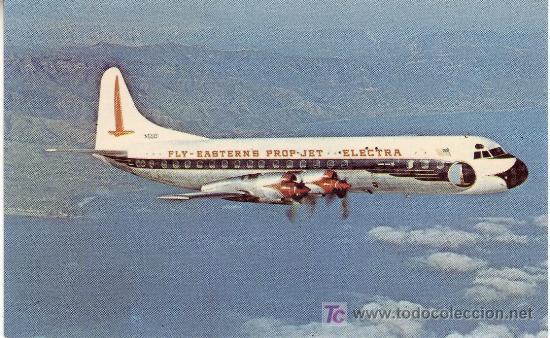 POSTAL DE AVION EASTERN AIR LINES-LOCKHEED L-188A ELECTRA (Postales - Postales Temáticas - Aeroplanos, Zeppelines y Globos)
