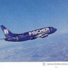 Postales: POSTAL DE AVION FISCHER AIR BOEING 737-300 OK-FAN.MAS COLECCIONSIMO EN RASTRILLOPORTOBELLO. Lote 25008554