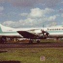 Postales: POSTAL DE AVION TRANSAMERICA-LOCKHEED L-188CF ELECTRA. Lote 27124031