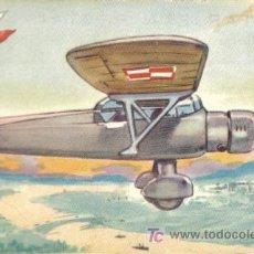 Postales: TARJETA POSTAL DE AVION DE POLONIA. P. Z. L. ¨MEWA¨. MONOPLANO DE RECONOCIMIENTO.. Lote 6949647