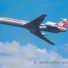 Postales: AVION TUPOLEV TU-154M - LINEAS AEREAS CHECOSLOVACAS. Lote 21627352