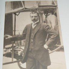 Postales: ANTIGUA FOTO POSTAL DE LOUIS BLÉRIOT (CAMBRAI, FRANCIA, 1872-PARÍS, 1936) AVIADOR E INGENIERO FRANCÉ. Lote 4444558