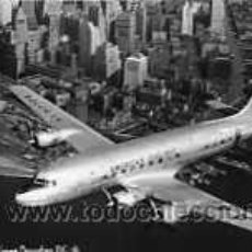 Postales: POSTAL DE QAVION DOUGLAS DC-6. Lote 5059646