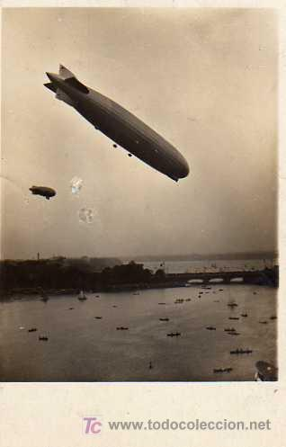 GRAF ZEPPELIN, ÜBER HAMBURG - BINNENALSTER 1929 (Postales - Postales Temáticas - Aeroplanos, Zeppelines y Globos)