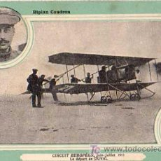 BIPLAN CAUDRON, CIRCUIT EUROPEEN JUIN-JUILLET 1911 , LE DEPART DE DUVAL