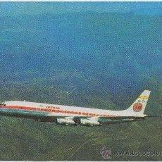 Postales: POSTAL DEL AVION JET DOUGLAS DC-8/52 TURBOFAN IBERIA. Lote 8098542