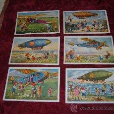 Postales: COLECCION DE 6 TARJETAS POSTALES,SERIE AVIACION,EDICIONES CATALANES LOCFON BARCELONA. Lote 10390200