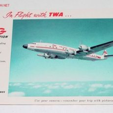 Postales: ANTIGUA POSTAL AVION - SUPER G CONSTELLATION - NO CIRCULADA.. Lote 2491646