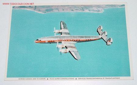 ANTIGUA POSTAL AVION - TRANS-CANADA AIR LINES - NO CIRCULADA. (Postales - Postales Temáticas - Aeroplanos, Zeppelines y Globos)