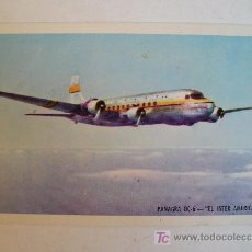 Postales: ANTIGUA POSTAL AVION PANAGRA PAN AMERICAN-GRACE AIRWAYS, INC DC-6 EL INTER AMERICANO NO CIRCULADA. Lote 26429320