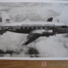 Postales: BRITISH EUROPEAN AIRWAYS VIKING CLASS AEROPLANE. SIN CIRCULAR. Lote 23351436