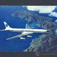 Postales: POSTAL DE AVIACION: PAN AMERICAN DOUGLAS DC-8C JET CLIPPERS (AVION). Lote 11828517