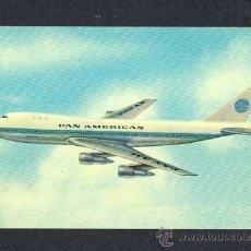 Postales: POSTAL DE AVIACION: PAN AMERICAN BOEING 747 SUPERJET (AVION). Lote 11828522