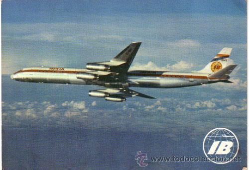 Nº 4441 POSTAL IBERIA AVION SUPER DC-8/63 DOUGLAS JET (Postales - Postales Temáticas - Aeroplanos, Zeppelines y Globos)
