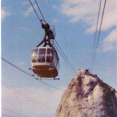 Postales: Nº 4198 POSTAL BRASIL TELEFERICO PAN DE AZUCAR RIO DE JANEIRO. Lote 12087553