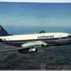 Postales: POSTAL ALEMANA AVIÓN LUFTHANSA BOEING 737 CITY JET AÑOS 80. Lote 12256532
