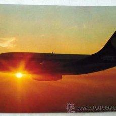 Postales: POSTAL ALEMANA AVIÓN LUFTHANSA BOEING 737 CITY JET AÑOS 80 PUESTA SOL. Lote 12256650