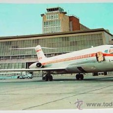 Postales: ANTIGUA FOTO POSTAL DEL AEROPUERTO DE BARAJAS - AVION DE IBERIA - CIRCULADA - ED. FISA.. Lote 12356524
