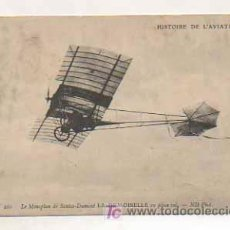 Postales: HISTOIRE DE L'AVIATION. LE MONOPLAN DE SANTOS - DUMONT LA DEMOISELLE EN PLEIN VOL. (ND PHOT.) . Lote 13481122