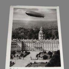 Postales: POSTAL 1938 - ZEPPELIN SOBRE KARLSRUHE ALEMANIA .. Lote 13807752