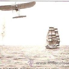 Postales: POSTAL AVIACION AERONAUTICA TRAVESIA DE LA MANCHA . Lote 14026752