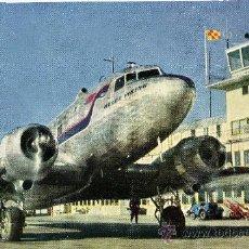 Postales: POSTAL DE UN AVION DE SAS AIRCRAFT DOUGLAS DC-3. Lote 14177694
