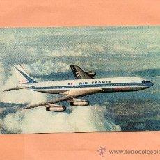 Postales: AIR FRANCE. AVIÓN. BOEING 707 INTERCONTINENTAL. PUBLICIDAD. SIN CIRCULAR.. Lote 26635534