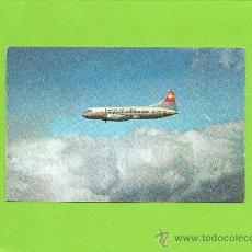 Postales: SWISSAIR AIR LINES. LINEA SUIZA. AVIÓN. SIN CIRCULAR. AVIACIÓN.. Lote 27138949