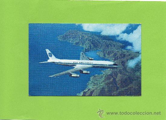PAN AMERICAN. DOUGLAS DC-8C JET CLIPPERS. SIN CIRCULAR. AVIACIÓN. AVION (Postales - Postales Temáticas - Aeroplanos, Zeppelines y Globos)