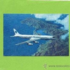 Postales: PAN AMERICAN. DOUGLAS DC-8C JET CLIPPERS. SIN CIRCULAR. AVIACIÓN. AVION. Lote 27120090