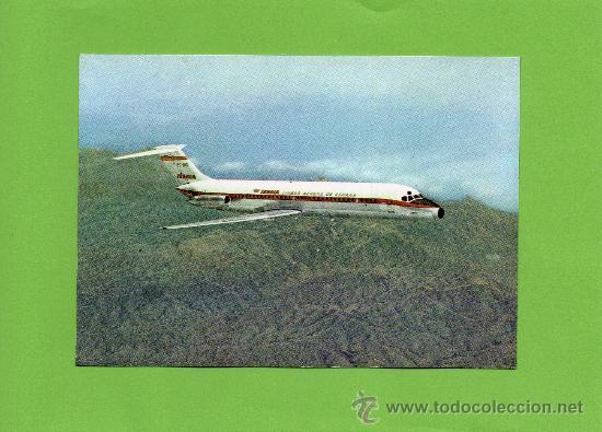 IBERIA. LINEAS AEREAS ESPAÑOLAS. JET DOUGLAS DC-9 SERIE 30. SIN CIRCULAR. AVIACIÓN. (Postales - Postales Temáticas - Aeroplanos, Zeppelines y Globos)