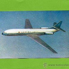 Postales: SABENA. CARAVELLE JET CONTINENTAL. BELGIAN WORLD AIRLINES. SIN CIRCULAR. AVIACIÓN.. Lote 27120121