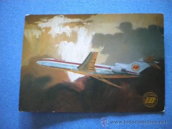 POSTAL IBERIA BOEING 727 / 256 CIRCULADA 1972 (Postales - Postales Temáticas - Aeroplanos, Zeppelines y Globos)