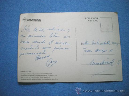 Postales: POSTAL IBERIA BOEING 727 / 256 CIRCULADA 1972 - Foto 2 - 15555263
