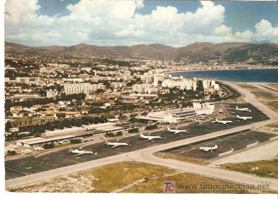 POSTAL AEROPUERTO DE NIZA COTE D'AZUR.CIRCULADA 1972 (Postales - Postales Temáticas - Aeroplanos, Zeppelines y Globos)