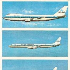 Postales: POSTAL PUBLICITARIA DE LA COMPAÑIA KLM TAMAÑO ESPECIAL. Lote 180347626