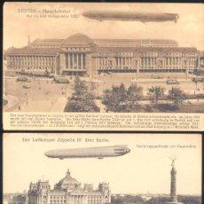 Postales: 3 POSTALES CON ZEPPELINES (LEIZPIG Y BERLIN). Lote 15916916