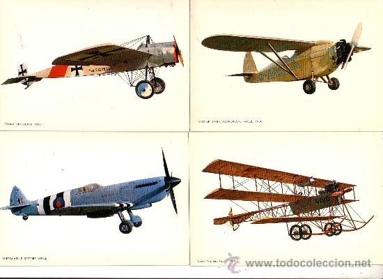 aviones - ocho postales color antiguas con repr - Comprar Postales ...