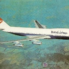 Postales: BOEING 747 DE BRITISH AIRWAYS. Lote 16253954