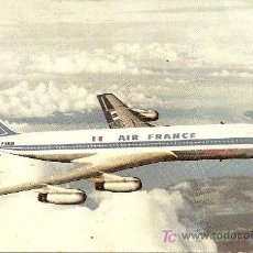 Postales: BOEING 707 INTERCONTINENTAL AIR FRANCE. Lote 16254327