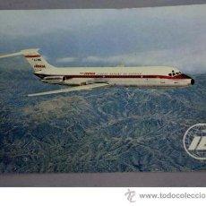 Postales: POSTAL AVIÓN IBERIA JET DOUGLAS DC-9 LÍNEAS AÉREAS DE ESPAÑA 1968. Lote 18166720