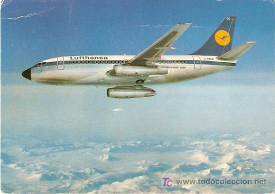 CITY JET- LUFTHANSA B757- PRINTED IN GERMANY - SIN ESCRIBIR- VELL I BELL (Postales - Postales Temáticas - Aeroplanos, Zeppelines y Globos)