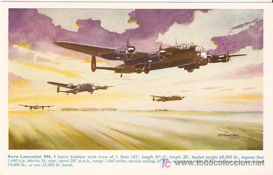 AVRO LANKASTER MK. - ENGLAND- SIN ESCRIBIR - VELL I BELL (Postales - Postales Temáticas - Aeroplanos, Zeppelines y Globos)