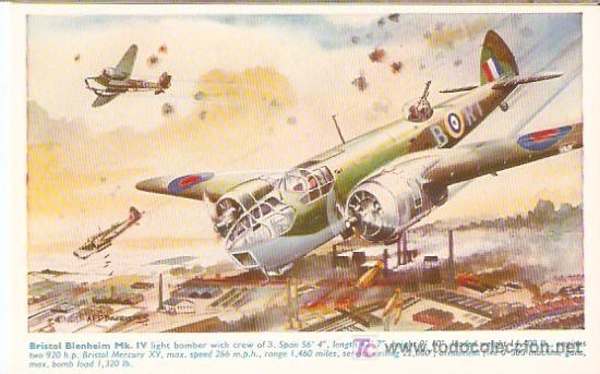 BRISTOL BLENHEIM MK. IV - ENGLAND- SIN ESCRIBIR - VELL I BELL (Postales - Postales Temáticas - Aeroplanos, Zeppelines y Globos)