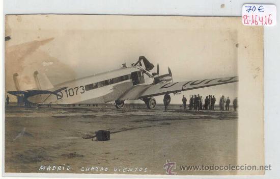 (PS-16416)POSTAL FOTOGRAFICA DE MADRID-CUATRO VIENTOS (Postales - Postales Temáticas - Aeroplanos, Zeppelines y Globos)