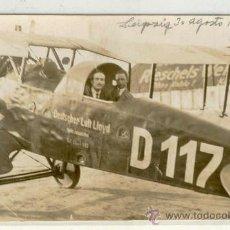 Postales: (PS-17311)POSTAL DE AEROPLANO EN LEIPZIG 30-8-1922. Lote 19374657