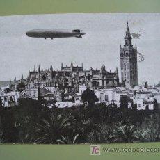 Postales: ANTIGUA POSTAL PUBLICIDAD : SEVILLA - ZEPPELIN - LABORATORIO SANAVIDA. 1930. CIRCULADA CON SELLO.. Lote 19579502